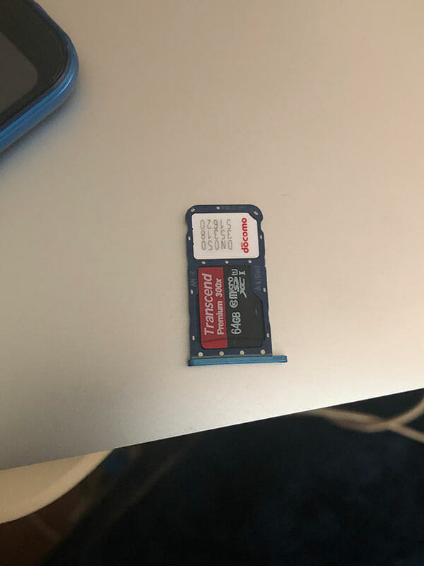P20 lite nano SIMカードとmicro SDカード