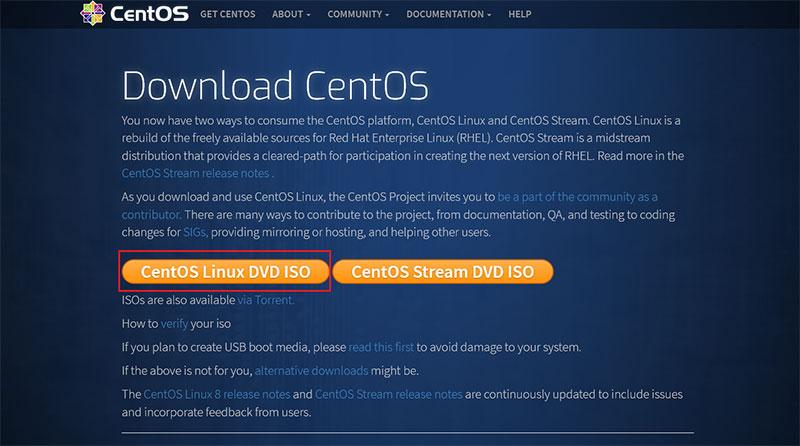 CentOS ダウンロードページ